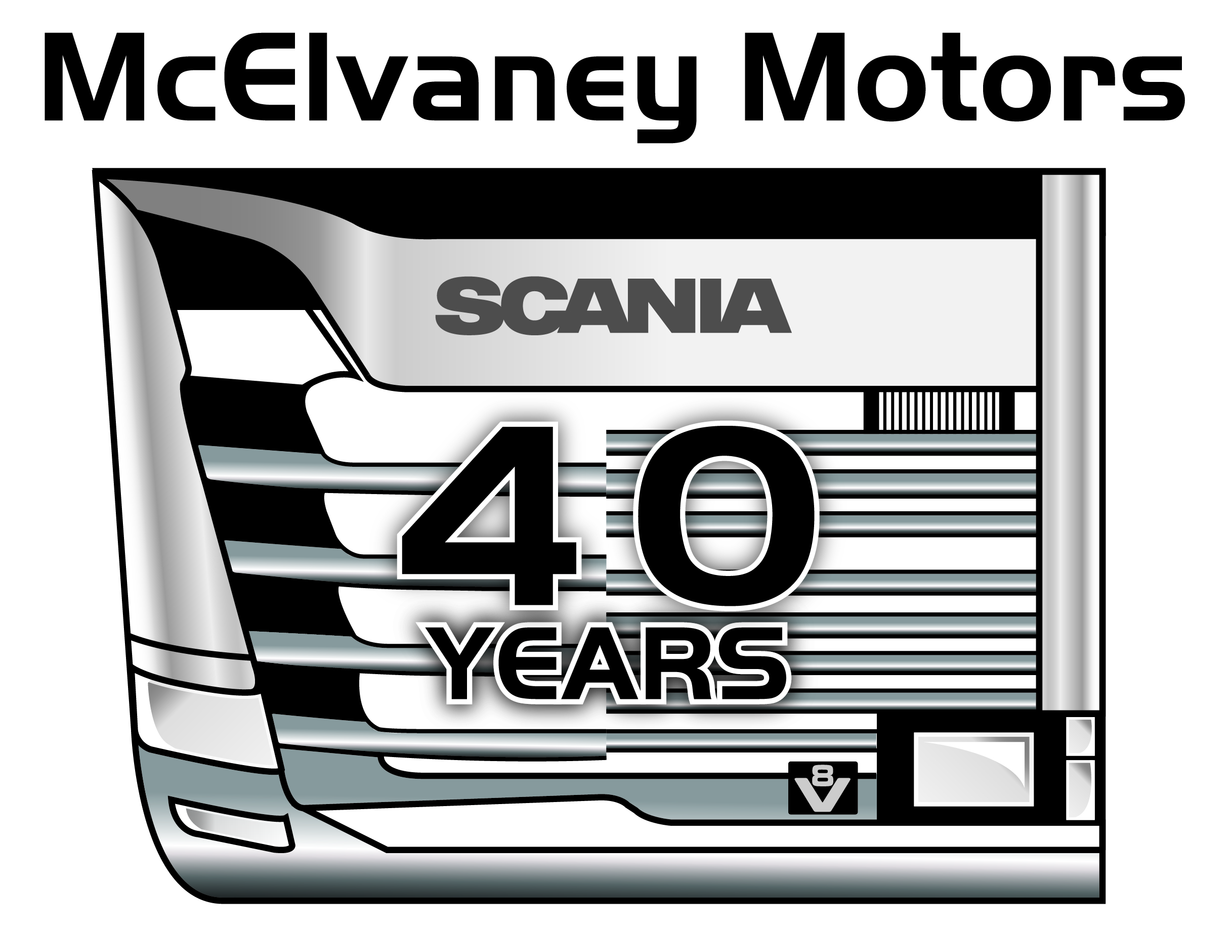McElvaney Motors 40 Year Anniversary Logo High Res 1